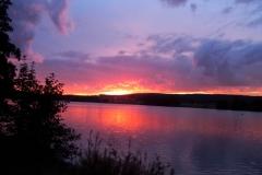 14 Sonnenuntergang am See